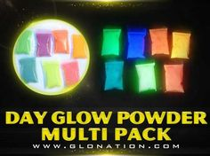 Triple Glow Powder Multi Pack...also sold separately. For use in resin-in-wood projects
