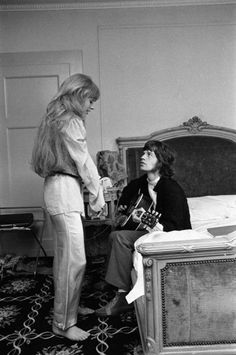 Marianne Faithfull (With Mick Jagger) via Hansol Kim