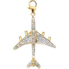 @Overstock - Flattering airplane charm shines with round-cut diamonds Attractive 14-karat gold charm will adorn your everyday look with a dash of sparkling elegance Sophisticated jewelry is the perfect gifthttp://www.overstock.com/Jewelry-Watches/14k-Yellow-Gold-1-10ct-TDW-Diamond-Airplane-Charm/3095111/product.html?CID=214117 $161.99