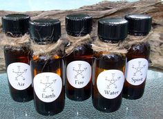 ELEMENT OILS   Single or Set  Earth Air by DragonflyMoonLotions, $6.00