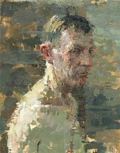 """Robert"" by Ann Gale...love the texture and density of the brush strokes as you move in toward the face."
