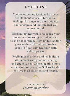 """""""Emotions"""" – Wisdom Card – Diana Cooper"""