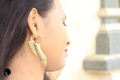 Fake Guage Earrings Faux Gauges Fake Piercing by balitribaljewelry