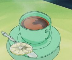 food, green, and anime image in 2019 Anime, Anime scenery, Old anime Aesthetic Colors, Aesthetic Images, Aesthetic Anime, Aesthetic Wallpapers, Aesthetic Green, Aesthetic Food, Anime Gifs, Anime Art, Image Deco