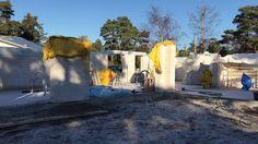 Huset börjar ta sin form – Ytong lättbetong väggar