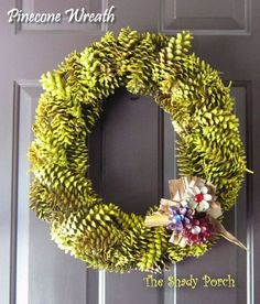 Fall Pine Cone Wreath