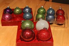 Glitter Christmas Ornaments. {easy step-by-step instructions}