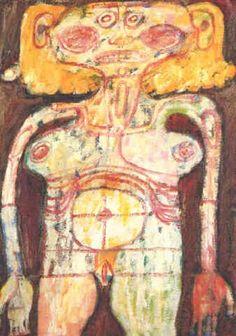 Desnuda par Jean Dubuffet Collages, Art Informel, Jean Dubuffet, Art Pictures, Photos, Orange Art, Art Brut, Abstract Drawings, Outsider Art