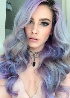 Periwinkle and sky blue hair dye. A truly heavenly color combination which is popular nowadays. Make your hair a canvas of cascading colors and hues.