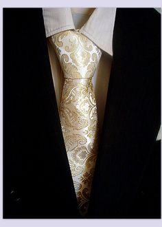 RESERVED for R deWitt Mens Wedding Necktie Gold by EventOutlet