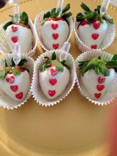 Champagne infused strawberries