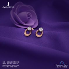 You many think that the higher the carat, the better the jewelry. Not so with for men's gold jewelry. Read more here about which gold to buy for jewelry. Gold Mangalsutra Designs, Gold Earrings Designs, Gold Jewellery Design, Diamond Jewellery, Diamond Earrings, Simple Earrings, Beautiful Earrings, Indian Jewelry Earrings, Egyptian Jewelry