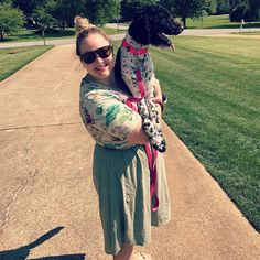 This is my HAPPY PLACE!  My little shadow went to spend the week with her breeder parents at what we are calling summer camp! I know she is having a fabulous time, but I miss my girl! . . . Have you tried wearing a perfect t over a Carly?
