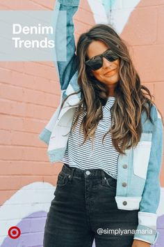 Denim's ruling fall style with patchwork & oversized jackets, perfect outfits for school or anywhere! Let Your Hair Down, Hair Color Dark, Denim Trends, Colored Highlights, Dream Hair, Fall Hair, Ombre Hair, Fall Outfits, Casual Outfits