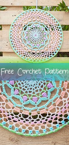 Easy Crochet Patterns Crocheted Mandala – Circular figures in all sizes and colours: the mandala is a magical shape without a beginning or end. We love circular projects and designed and crocheted this colourful mandala. Get the free … Crochet Mandala Pattern, Afghan Crochet Patterns, Crochet Stitches, Dream Catcher Crochet Pattern, Crochet Amigurumi Free Patterns, Love Crochet, Beautiful Crochet, Crochet Flowers, All Free Crochet
