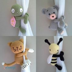 Amigurumi For Baby Room – Knitting And We Crochet Baby Toys, Crochet Amigurumi, Crochet Home, Cute Crochet, Amigurumi Doll, Crochet Animals, Crochet Dolls, Diy Crafts To Do, Yarn Crafts