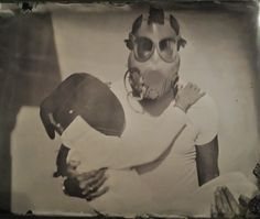 "By: Isa Trucco Title: ""D-Fence"" Country: Italy Date: 11/9/2015 Wet Plate Collodion, International Artist, Fence, Italy, Country, Painting, Fictional Characters, Masks, Italia"