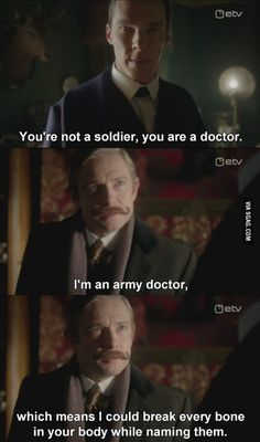 Good thing he's a doctor, because that looks like a serious burn