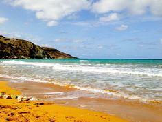 Ramla Beach with orange sand on Gozo Island, Malta by chrisbeyeler, via Flickr