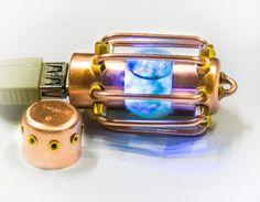 Flash drive 32 GB steampunnk USB glow in dark