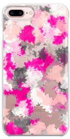 Casetify Protective iPhone 7 Plus Case and iPhone 7 Cases. Other Pattern iPhone Covers - Pink Grey Watercolor Splatter by Girly Trend  | Casetify #IphoneCaseCovers