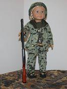 Camo Duck hunter ensemble, includes shotgun! (non working gun)