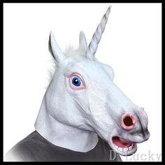 2f570655db6d Hot Sale Halloween Party Cosplay Factory Price Creepy Unicorn Head Latex  Mask Halloween Costume Theater Prank