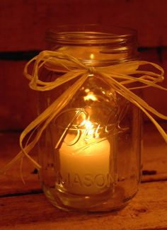 mason jar with twigs | DIY Mason Jar Candle by PineknobsAndCrickets on Etsy