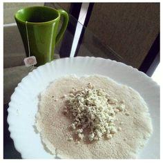 Café e pré treino: chá de capim cidreira e tapioca com ricota e manteiga  #Day3 #eatclean #alimentandosonhos by alimentandosonhos