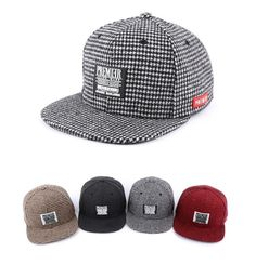 Unisex PREMIER mini check rubber Snapback 4 colors adjustable baseball cap #PREMIER #Snapback