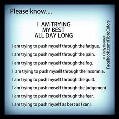 Any chronic illness,or invisible disabilities etc.Anxiety,CFS/ME,Fibromyalgia,Lupus,Chronic pain,morbid obesity, caused by an eating disorder or not,learning disabilities,cognitive disabilities,any invisible illness, or any other type of challenge,like functioning on medications that cause unbelievable brain fog and make you exhausted and sleep all the time.