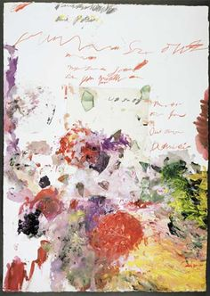 (aka Cy Twombly) Edwin Parker Twombly Jr. (1928~2011) was an American painter of large-scale, sculptor and photographer.