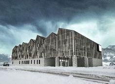 arquitectura edificio barra diagonal - Buscar con Google