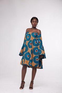 Afrikaanse Print Anike Shift Dress African Print Dresses, African Fashion Dresses, African Dress, African Attire, African Wear, African Women, 50 Fashion, Ethnic Fashion, Fashion Prints
