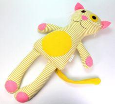 Organic Plush Toy Cat -- Poppy the Cat -- Organic Soft Stuffed Plush Cat…