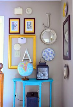 Eclectic Gallery Wall |An idea for an awkward wall