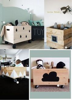 Cajas de madera para juguetes