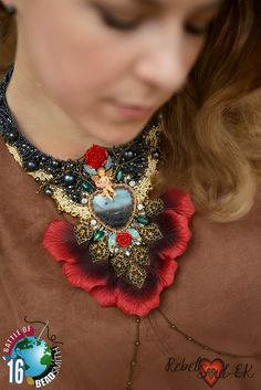 """B.O.T.B. 2016 My design for the contest Statement Necklace """"Requiem for love"""""""