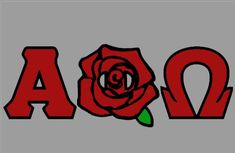 Alpha Phi Omega rose letters Alpha Phi Omega, Fun Stuff, Greek, Cricut, Sticker, Letters, Rose, Crafts, Fashion