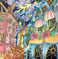 Cobbled Streets From Lizzie Mary Cullens Book The Magical City Done By Nu Ngning NungNing