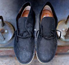 Fancy - Clarks Desert Matte Black Boot