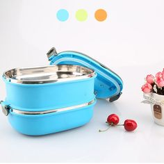 Stainless Steel Thermal Insulated Portable Bento Food Picnic Container Lunch Box