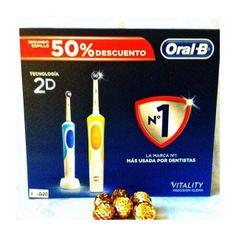 Cepillo eléctrico Oral B . Segunda unidad con un 50% de descuento. Pueden comprarse separados.