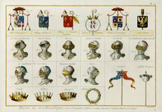 The Antiquarium - Antique Print & Map Gallery - Denis Diderot - Heraldic Blazonry - Hand-colored copperplate engraving