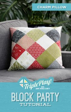It's a Triple Play at Missouri Star Quilt Co! Jenny, Misty and Natalie offer three fresh new takes on old favorites and stitch up new projects from the Best of BLOCK Magazine (including Misty's adorable Charm Pillow on Point)! Follow the link below to watch now! #MissouriStarQuiltCo #MSQC #TriplePlay #CharmPillowOnPoint #Quilting #QuitlingTutorial #Quilt #Pillow #DIYPillow #OnPointQuilting #Sewing #FabricCrafts #Handmade