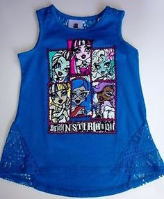 Monster High Girls Size 10 12 Tank Sleevless Shirt New with Tags Top New 2015 | eBay