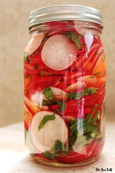 Pickled Radishes for Tacos