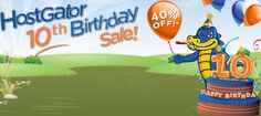 Hostgator 10th Birthday Sale – 40% Off On All Hosting Packages