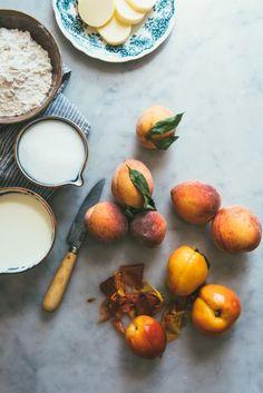 Brown Butter Peach Ice Cream Cake / O and O Eats