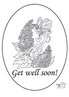 Print Coloring Image Get Well
